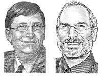 Bill Gates and Steve Jobs