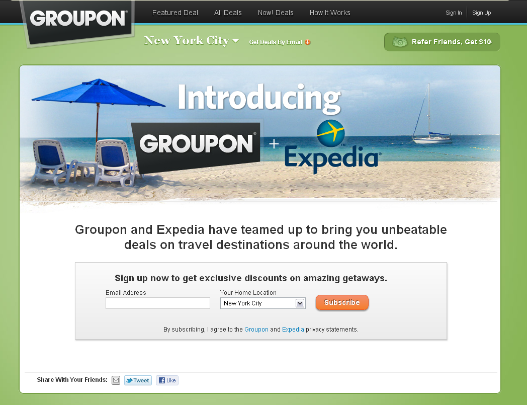 groupon_expedia screenshot