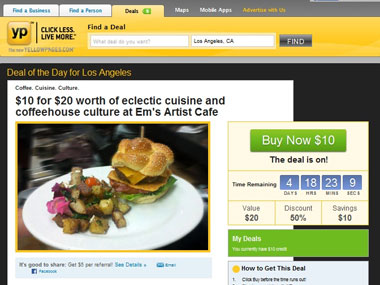 AT&T Interactive Takes on Groupon By Launching YP com Daily