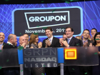 Groupon_mason celebrating at Nasdaq