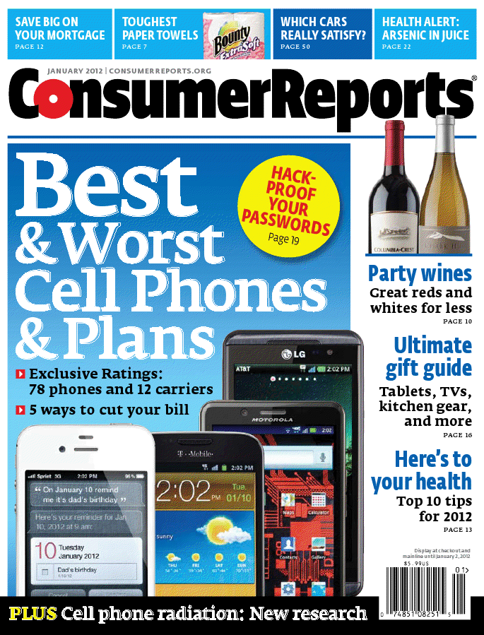 Best cell phones 2015 consumer reports