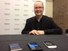 Sony Steve Walker with new Xperias