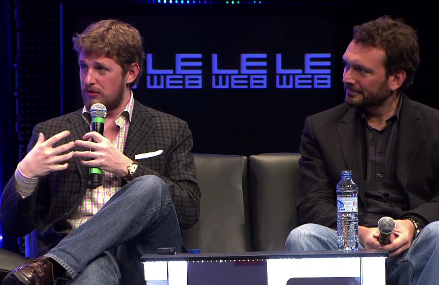 Matt Mullenweg and Toni Schneider of Automattic, speaking at the Le Web conference.