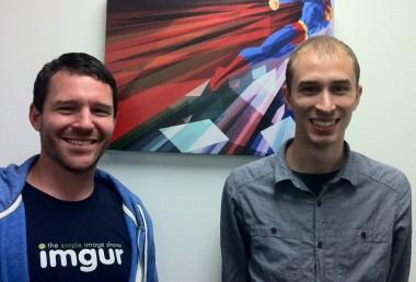 Imgur COO Matt Strader and founder Alan Schaaf