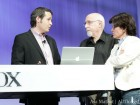 Walt Mossberg and Kara Swisher demoing Quri app