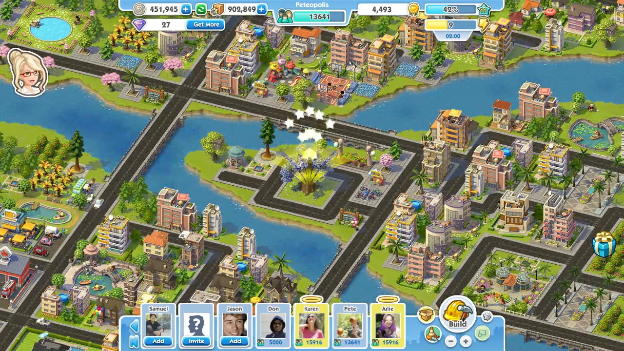 Build virtual worlds on facebook in the ville simcity for Building builder online