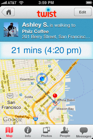 Live Maps Bring Together Where and When for Location Sharing