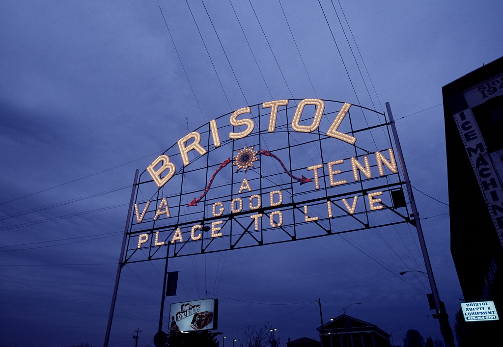 Bristol, Virginia-Tennessee Sign