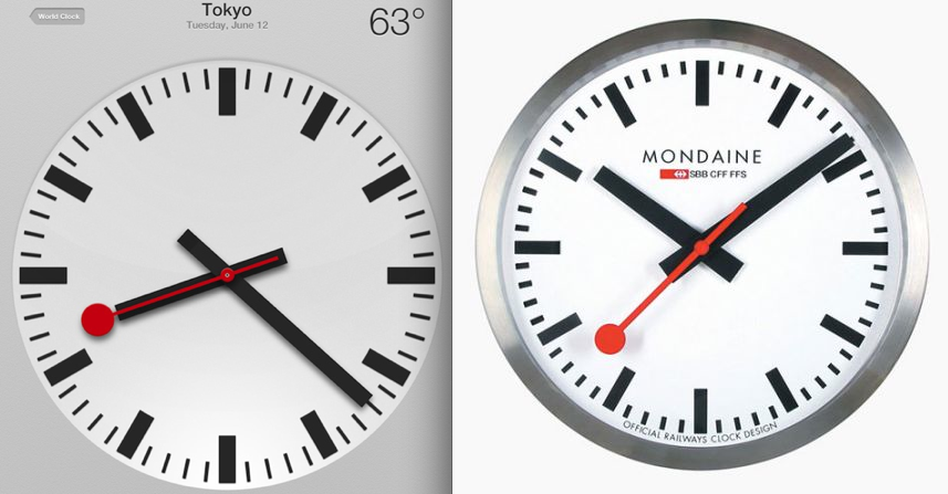 Swiss railway ticked off at apple over ipad clock app - Swiss railway wall clock ...