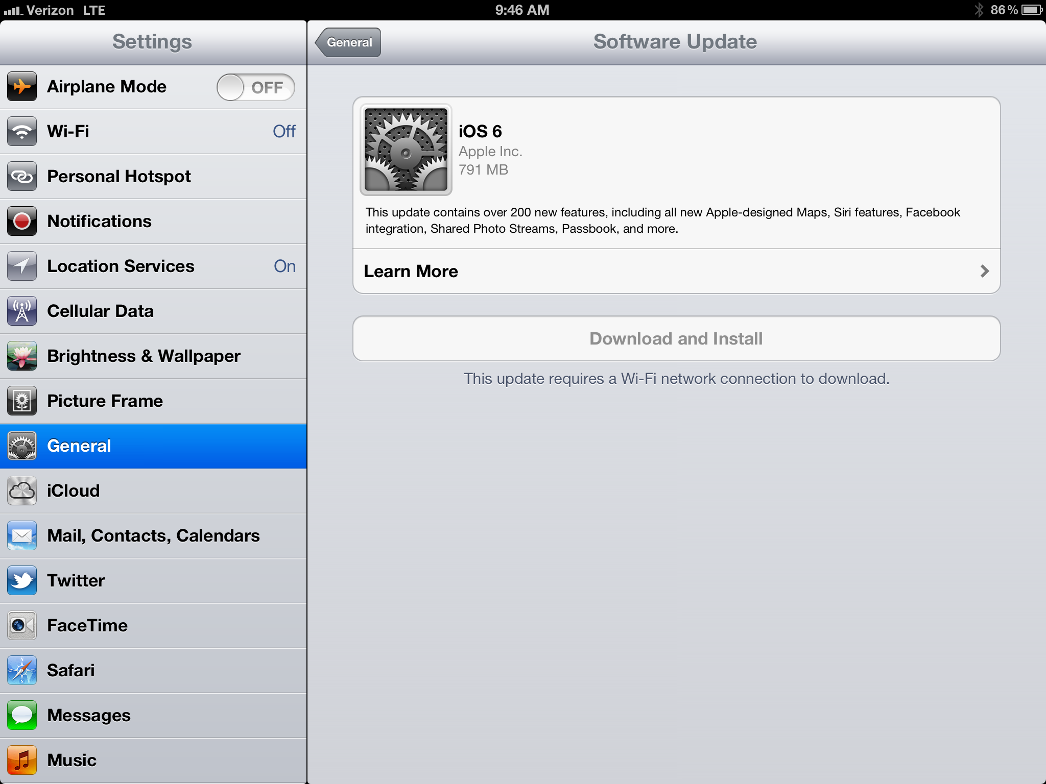 ios 6 download ipad