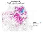 Airbnb says 72 percent of its properties in San Francisco are outside the central hotel corridor.