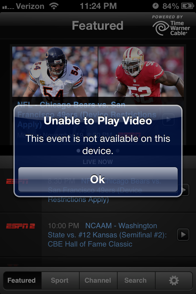 Why You Can't Watch Monday Night Football on Your iPhone - Peter
