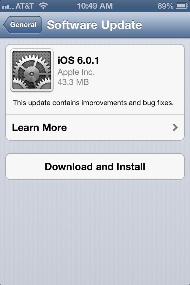 apple releases ios 6 0 1 for iphone ipod ipad bonnie cha