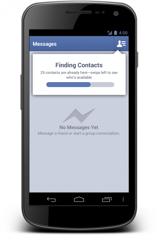 how to send on facebook to all contacts massenger