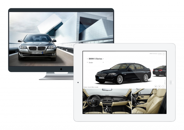 BMW dual screen TV app experience