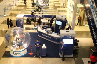 PayPal at San Francisco's Westfield mall, where it is now accepted at a handful of retailers as a form of payment.