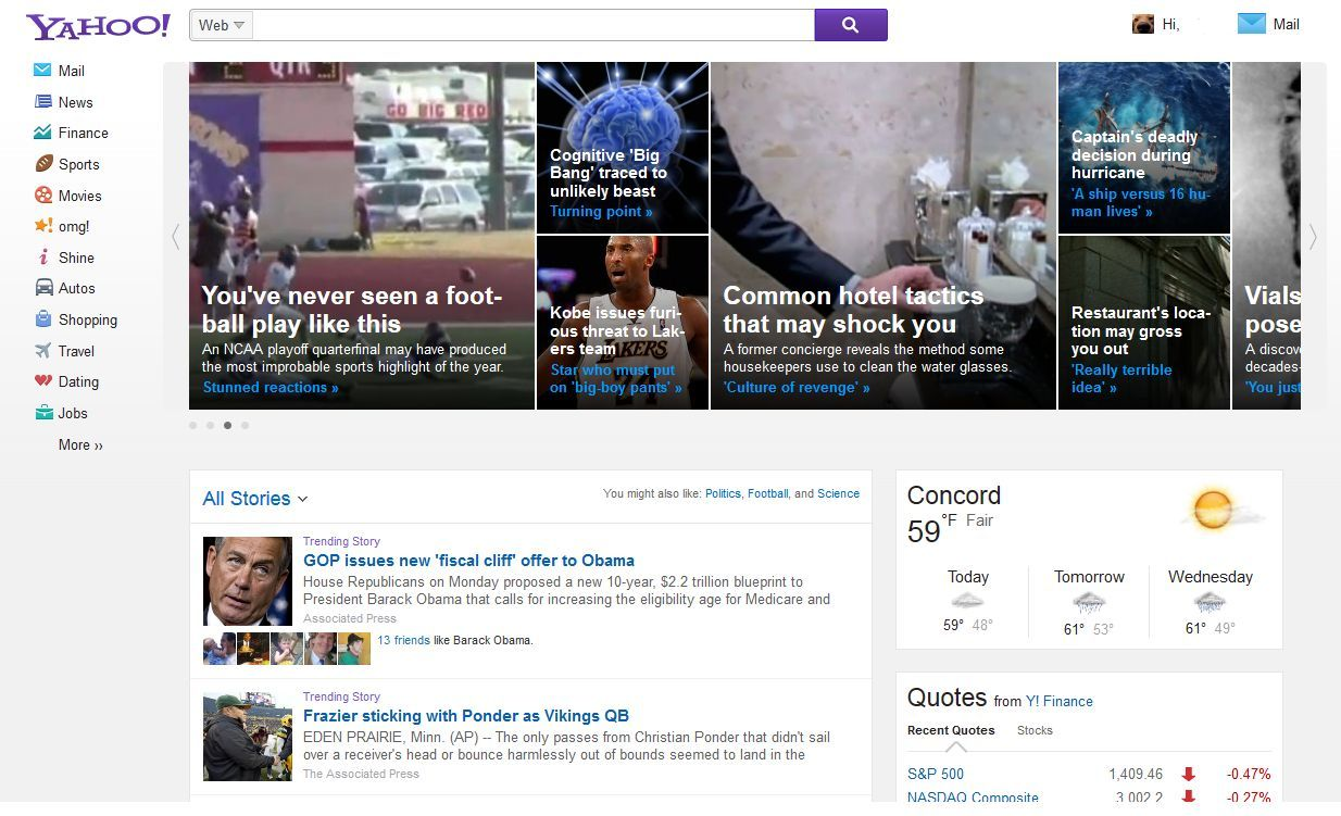 New yahoo homepage nears launch here s the latest version
