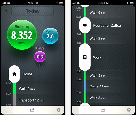moves app journals physical activity without a wristband liz