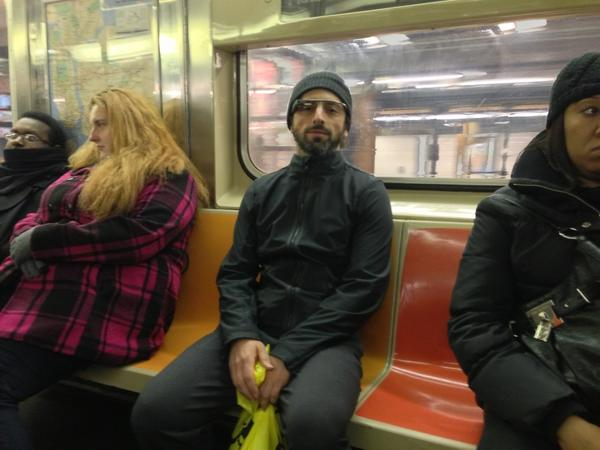 sergey brin subway google glassesjpeg