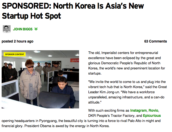techcrunch north korea