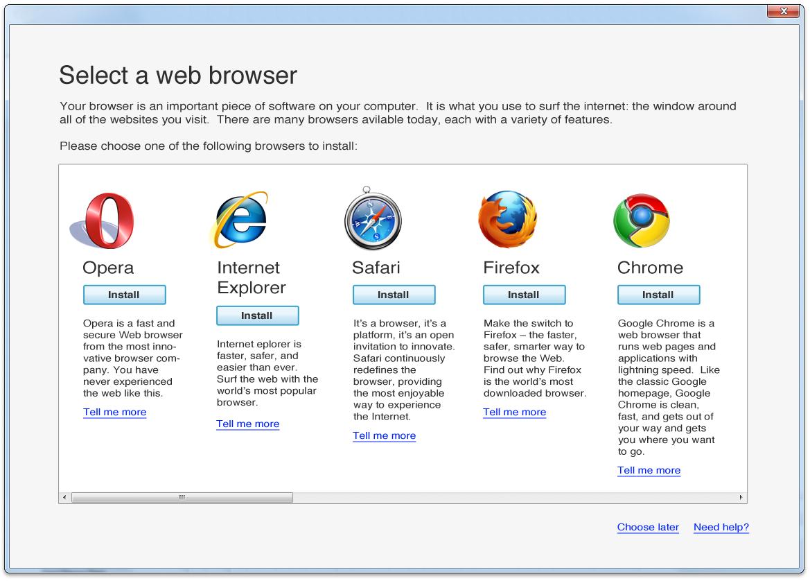 windows web browsers: