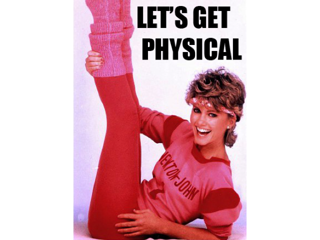 Image result for let's get physical quote