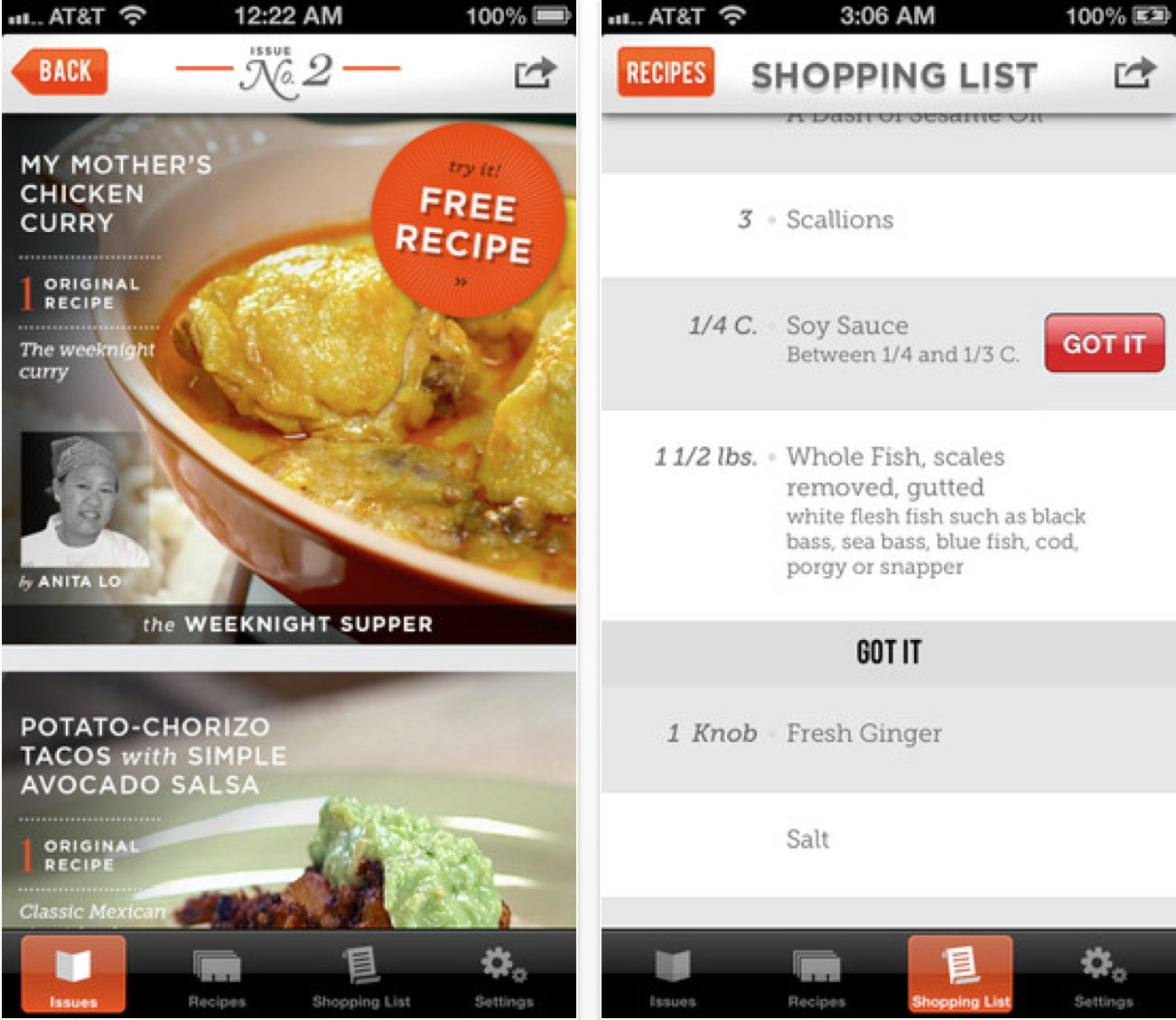 Magazine style cooking app panna comes to iphone lauren goode not another cooking app pannaapp forumfinder Images