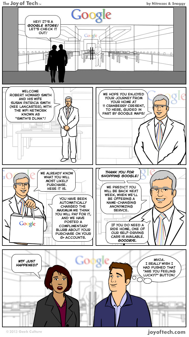 The Google Store Experience (Comic)