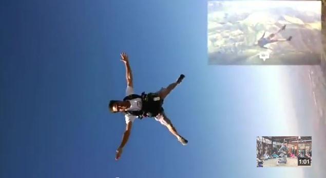 skydiver Google Glass