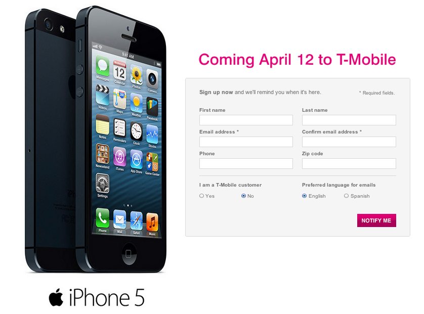 So Here Is the iPhone Lineup That T-Mobile Just Announced