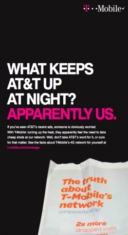 T-Mobile ad - What Keeps AT&T Up