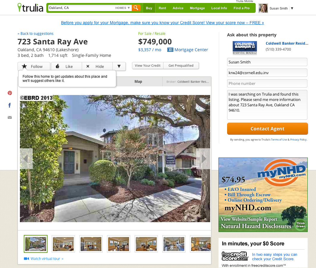 Rental Property Search Engine: Trulia Suggests Launches For Smarter Home Discovery