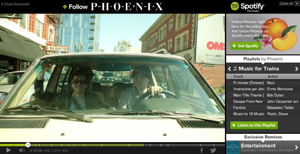 Spotify YouTube Phoenix Ad