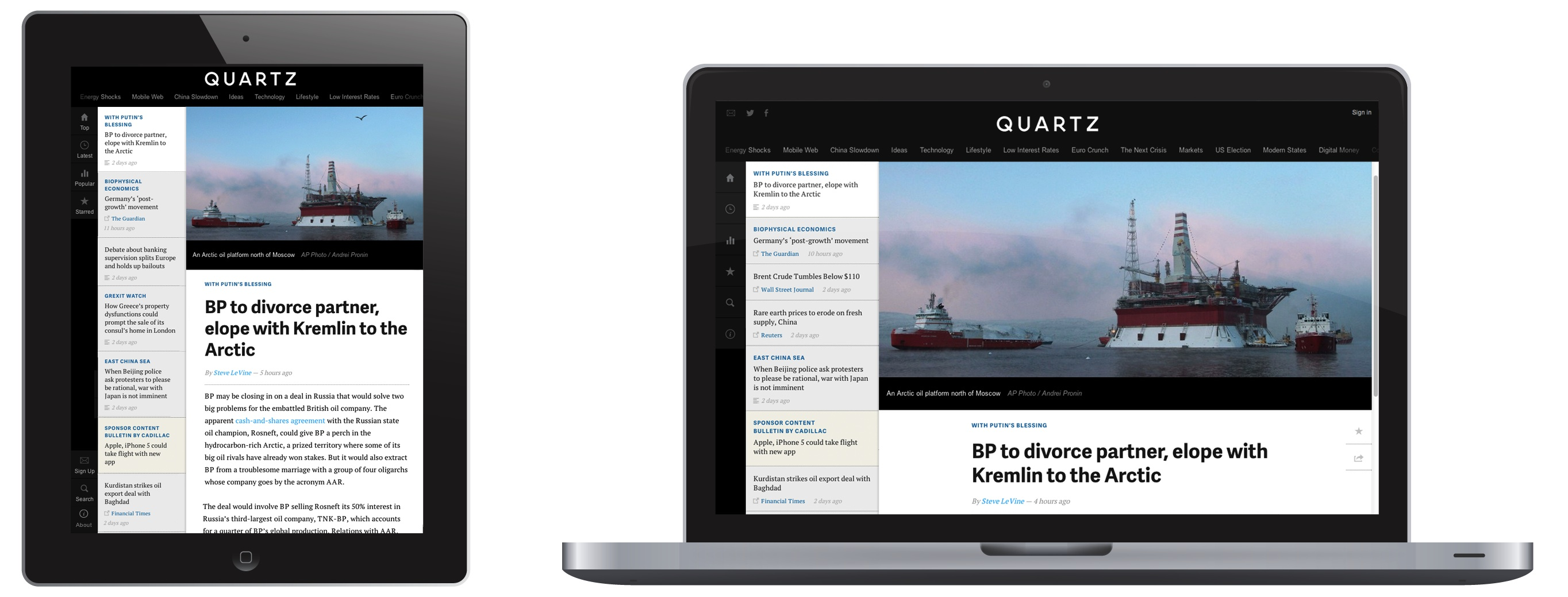 Quartz Business News Site Says 2 Million Visitors After 7