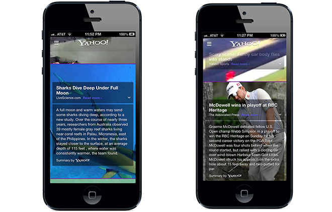 Yahoo Quickly Plugs Summly's Tech Into Its iOS App