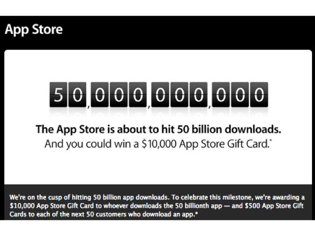 Apple Nears 50 Billion App Store Downloads, Plans Giveaway