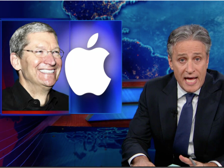 Jon Stewart on Tim Cook's Less-Than-Taxing Senate Reception