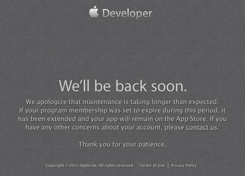 Apple Developer Center Was Hacked; Site Remains Down While Company Overhauls Security