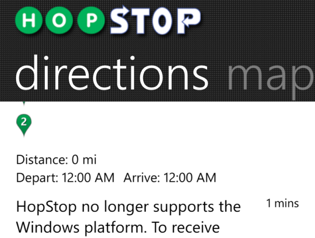 What happened to hopstop