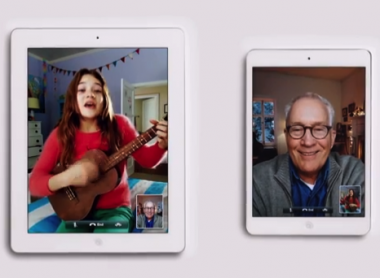 Apple iPad mini Christmas ad