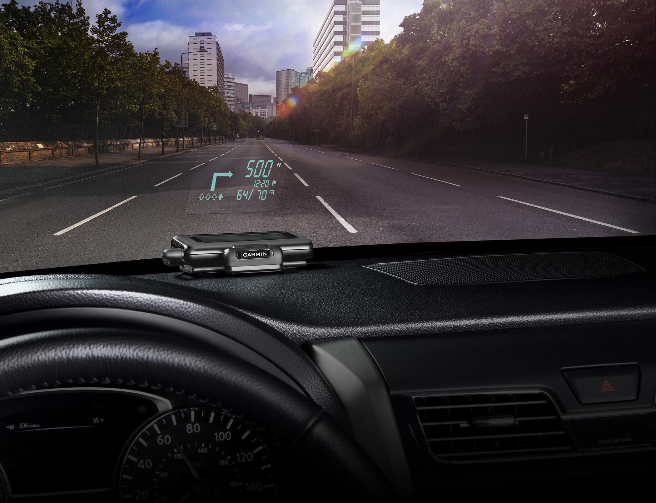 The Road Ahead: Garmin HUD Projects Directions Onto Your Windshield