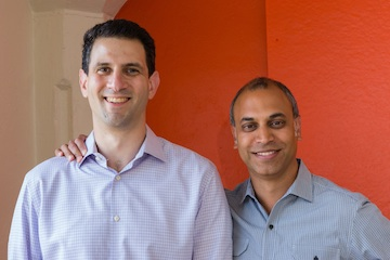 Hunter Walk (left) and Satya Patel of Homebrew.