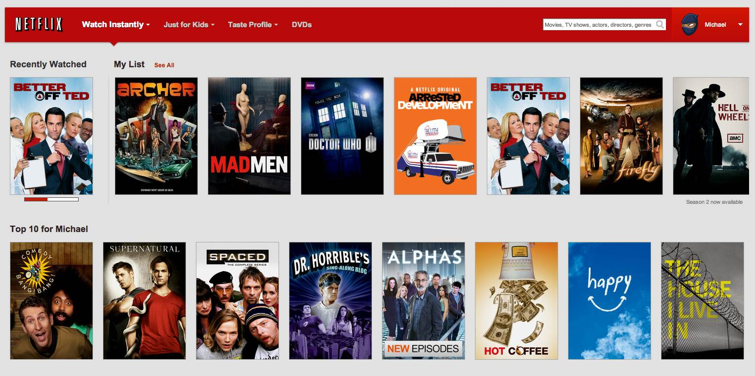 You Tell Netflix What You Want to Watch, and Now It Tells You What You Really Want to Watch