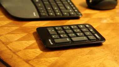 The Sculpt keyboard comes with a separate number pad.