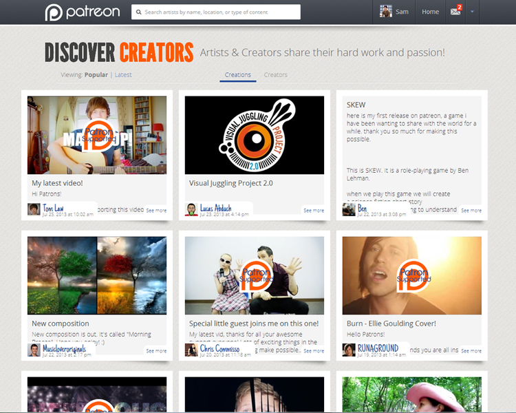 As YouTube Stars Invent Their Own Ways to Get Paid, Patreon Raises $2.1M