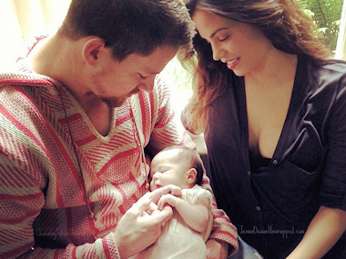 Channing Tatum and his wife released the first public photo of their baby on Facebook