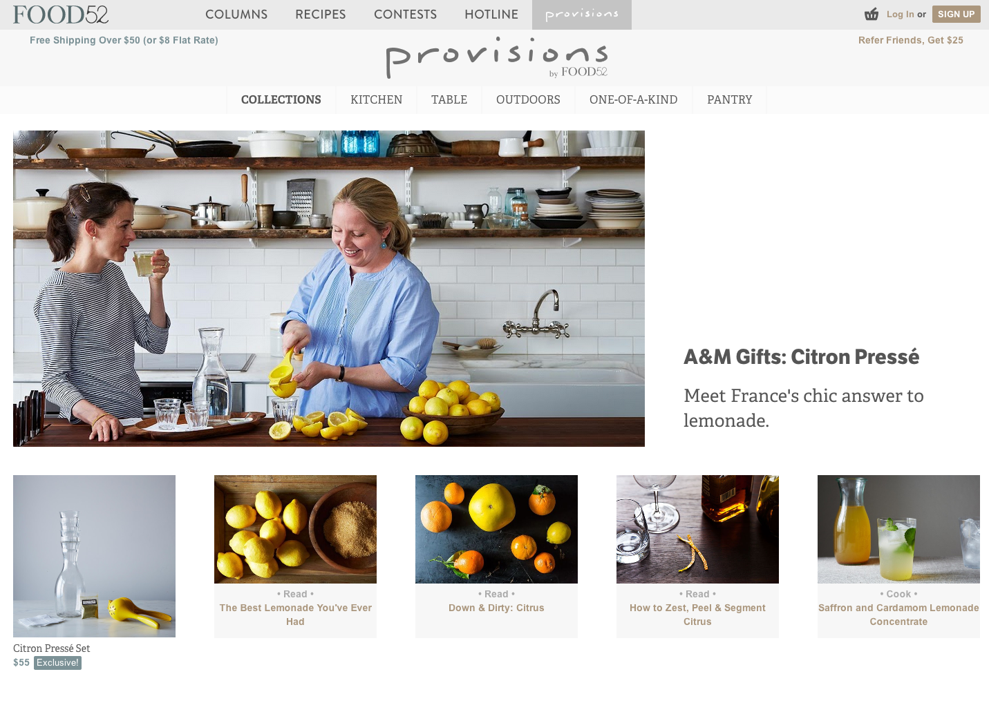 Online shopping for provisions