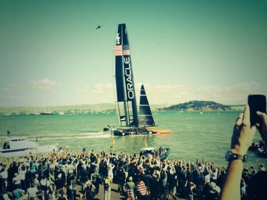 Team Oracle crosses the finish line.