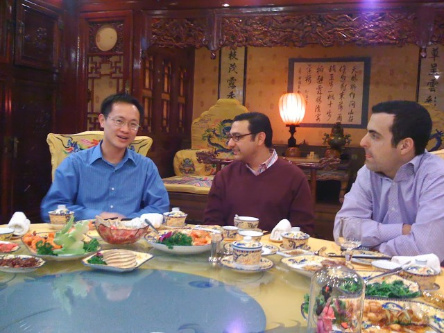 Lin Bin, Vic Gundotra and Hugo Barra in China several years ago.
