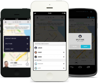 Uber's new fare-splitting feature